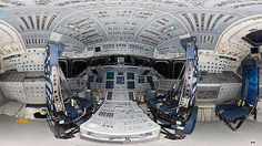 Hi-res panorama: Space shuttle Endeavour's flight deck
