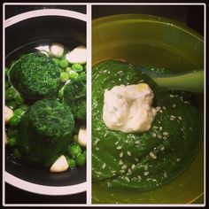 Spinach & green peas Baby soup