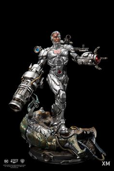 Pre-Order XM Cyborg now here with us in europe. A tragic twist of fate have him becoming part man and part machine - a Cyborg! Cyborg Dc Comics, Dc Comics Art, Anime Comics, Crazy Toys, Angel Warrior, New Teen, Custom Action Figures, Sculpture Clay, Dc Heroes