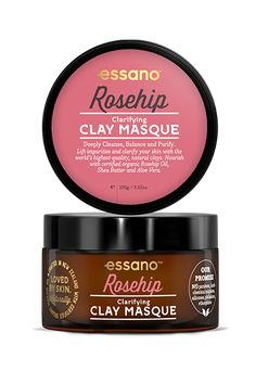 Our Clarifying Rosehip Clay Masque is formulated with deep cleansing natural clays which draws out impurities, dirt and toxins, leaving your skin feeling revitalised. Rosehip Oil, Clay Masks, Aloe Vera, Natural Skin Care, Shea Butter, Your Skin, Cleanse, Moisturizer, Routine