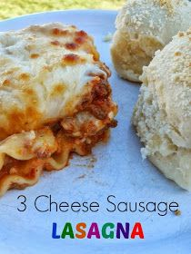 ***Ally's Sweet and Savory Eats: 3 Cheese Sausage Lasagna, not thick enough