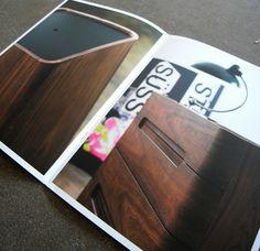 Katalog til møbelkonceptet b.close/ Udarbejdet af grafisk designer Anne Mark Møller / Designbureauet Anetmai