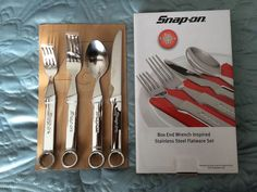 Snap-On tools Flat Ware Set. Love to have a set of these at my house, something like this should last a long time.
