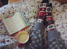 Morning  I was working last night on Christmas fairso it's a morning in bed for me  hope you are having nice day!  ps. I love this H&M socks! by bujoplanner