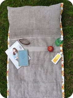 Sew up a waterproof blanket to keep dry on the wet grass during your next picnic, or add pockets to each corner to keep track of all your things on your next be