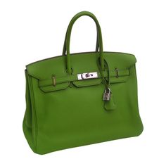 Splendid Green 35 Birkin from Hermès Letter M Hermes Birkin, Green Colors, Letter, Green, Bag, Letters, Green Color Schemes, A Letter