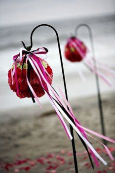 Wedding, Flowers, Pink, Ceremony, Decorations, Ideas, Isle, Hooks