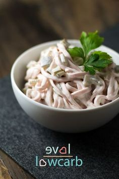 Schneller Fleischsalat mit Mayonnaise #ketogen #lowcarb #lchf