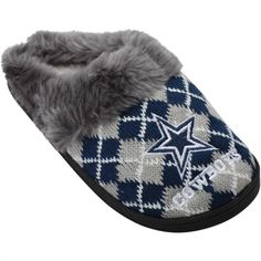 Dallas Cowboys Women's Argyle Fur Slide