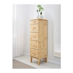 IKEA - TARVA, Chest with 5 drawers, , Made of solid wood, which is a durable and warm natural material.If you oil, wax, lacquer or stain the untreated solid wood surface it will be more durable and easy to care for.Smooth running drawers with pull-out stop.If you want to organize inside you can complement with SKUBB box, set of 6.