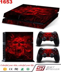 awesome MATTAY Whole Body Vinyl Skin Sticker Decal Cover for Playstation A System Console and Controllers – Bloody Skull Sony Ps4, Vampire Skull, Cheap Stickers, Ps4 Controller, Playstation Games, Gaming Accessories, Skull Design, Video Game Console, Cool Designs