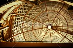 Modern Office Building Seen Through Glass Roof Royalty Free Stock Photo