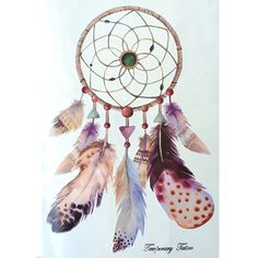 2016 NEW Fashion Waterproof Hot Temporary Tattoo Stickers 21 X 15 CM  Dreamcatcher With Big Feathers #clothing,#shoes,#jewelry,#women,#men,#hats,#watches,#belts,#fashion,#style