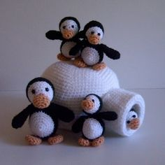 Instant Download PDF Crochet Pattern Penguin por tildafilur