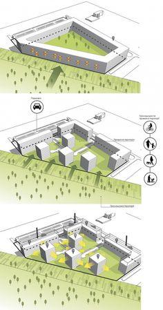 Жилой комплекс на улице Стрыйской в г. Львов. Схемы © Архиматика