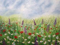 "ARTFINDER: ""Whimsical Meadows"" 90x60 by Lucy Moore - ""Whimsical Meadows"" 90x60 **I WILL SHIP GLOBALLY PLEASE CONTACT ME FOR AN ACCURATE QUOTE*** I love to paint landscapes with a little abstract twist. ..."