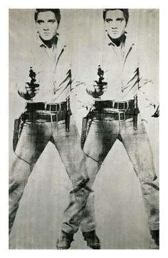 'Double Elvis' c.1963 by Andy Warhol. Elvis as a cowboy, screenprinted by one of Andy's assistants - what's not to like...