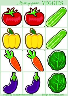 Fruit And Vegetables Crafts For Kids Free Printable Ideas Free Preschool, Preschool Printables, Preschool Lessons, Preschool Crafts, Free Printables, Toddler Crafts, Crafts For Kids, Vegetable Crafts, Craft Free