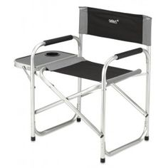 Chaise De Camping Pliante En Aluminium Avec Tablette