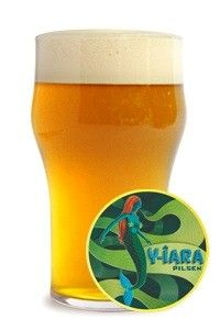 Cerveja Y-îara Pilsen, estilo German Pilsner, produzida por Cervejaria Nacional, Brasil. 5% ABV de álcool.