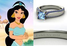 Disney engagement ring - jasmine