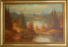 Oil Painting Alpine Winter by Hans Joachim Spicnais by Nextchaptertrading on Etsy