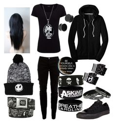All Black Tag by legacy-sinister on Polyvore featuring polyvore fashion style Joseph Joie Converse Bling Jewelry clothing