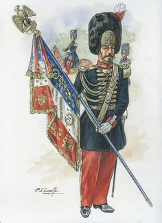 French; Imperial Guard, 2nd Grenadiers, Eagle Bearer, 1870 by P.Lourcelle