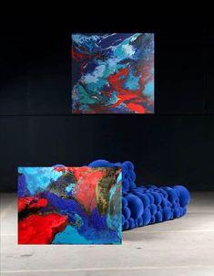 Großformatige Kunst bei Graz Galerie-Ich liebe Blau <3