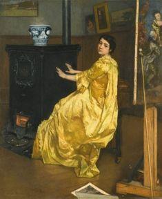 In the Studio - Alfred Émile Léopold Stevens - The Athenaeum