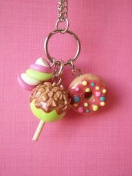 fimo sweets necklace