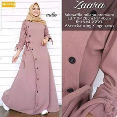 Order or more info : WA : 085956174253 . Hijab Style Dress, Hijab Look, Iranian Women Fashion, Islamic Fashion, Abaya Fashion, Fashion Dresses, Muslim Long Dress, Moslem Fashion, Modele Hijab