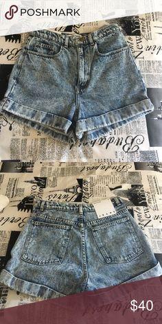 American Apparel high waisted denim shorts American Apparel. Unworn, tags still on. Size 30 American Apparel Shorts Jean Shorts