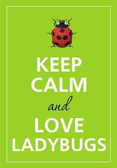 Keep calm and love ladybugs by Agadart on Etsy