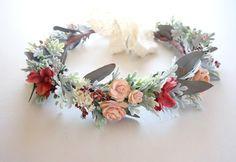 Flower Crown, Bridal Crown, Fall Wedding Crown, Dried Flower Crown, Head Wreath…