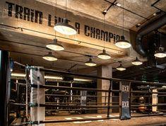Gym Interior, Luxury Interior, Muay Thai Gym, Gym Lighting, Boxing Gym, Gym Decor, New Roots, Club Design, Fight Club