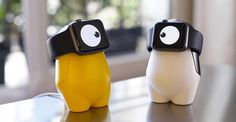Turn your Apple Watch charger into a cute monster with WATCHme: http://s.hsnob.co/RIuUbBV