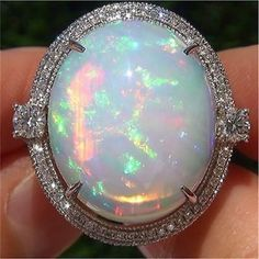 Large White Fire Opal Women Men 925 Silver Ring Charm Engagement Wedding Jewelry in Jewelry & Watches, Fashion Jewelry, Rings Opal Jewelry, Silver Jewelry, 925 Silver, Sterling Silver, Gold Jewellery, Silver Rings, Fine Jewelry, Marcasite Jewelry, Trendy Jewelry