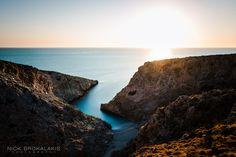 """""""Σειταν Λιμανι"""" © Nick Brokalakis Photography Sunrise, Beautiful Places, Crete Greece, Island, Water, Meet, Travel, Outdoor, Photos"""