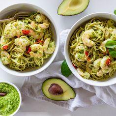 Avocado Pesto & Prawn Pasta