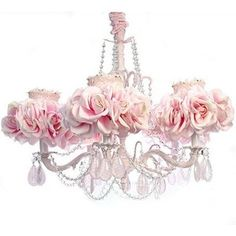 This chandelier is so beautiful for a young girls room...I love it ...