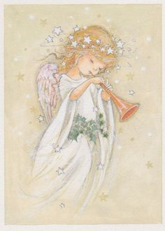 61 ideas painting christmas angels for 2019 Vintage Christmas Cards, Christmas Pictures, Christmas Postcards, Christmas Angels, Christmas Art, Engel Illustration, Angel Trumpet, Angel Drawing, Angel Pictures