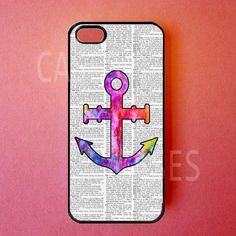 Iphone 5 Case Colorful Anchor