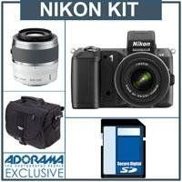 Nikon 1 V2 Mirrorless Digital Camera Body, Black, with Nikon 1 10-30mm VR Zoom Lens, Black - Bundle - with Nikon 1 Nikkor 30-110mm f/3.8-5.6 VR Lens (White), SanDisk 16GB Extreme SDHC Memory Card, Adorama Slinger Carrying Case by Nikon. $996.95. Meet Nikon's sophisticated, enthusiast-oriented Nikon 1 V2, featuring a new 14MP sensor, a built-in flash, a newly-developed shutter unit, a generous-sized grip and a high-resolution electronic viewfinder. This, combin...