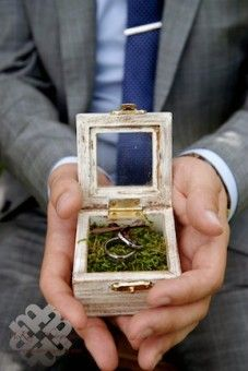 Rustic Orchards Weddings with rustic ring box