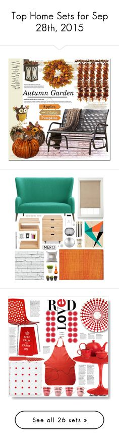 """Top Home Sets for Sep 28th, 2015"" by polyvore ❤ liked on Polyvore featuring interior, interiors, interior design, home, home decor, interior decorating, Harvest, Hinkley Lighting, Smith & Hawken and Nearly Natural"