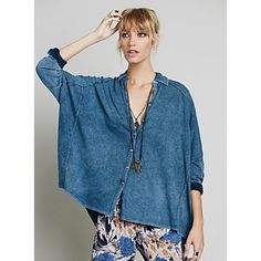 """Free people top ($50 each) """"Big easy button down"""" is the name of this top. I have one in white(M) and one in a hunter green color(L). If you're short enough the green shirt could possibly be worn as a dress/tunic! NEW WITHOUT TAGS ❌NO TRADES Free People Tops"""