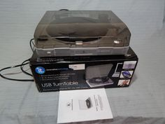 Innovative Technology ITUT-201 USB Turntable Record to MP3 W Box #InnovativeTechnology