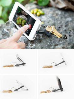 Phoneography tip: Use a phone stand with a self-timer app for handsfree self-ports. Or, combine it with a slow shutter app for razor sharp nighttime shots.   We recommend the Keyprop, cuz it's portable, durable, and darn cute too!