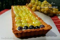 Crostata all'uva con crema al mascarpone